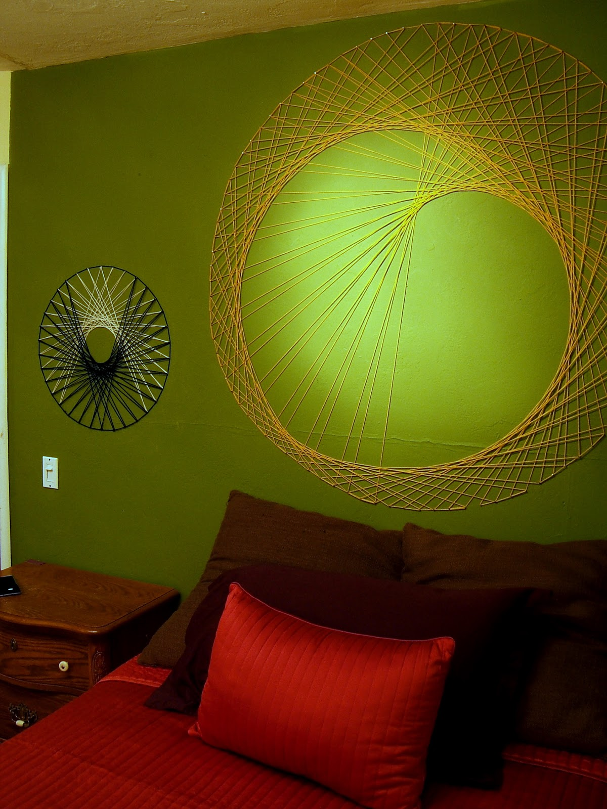 String Wall Art nine red: how to: string wall art