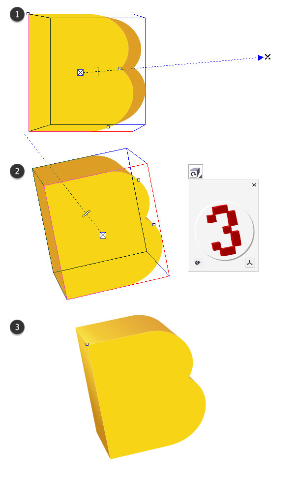 Cara Membuat Objek Efek 3D Dengan Extrude di CorelDraw