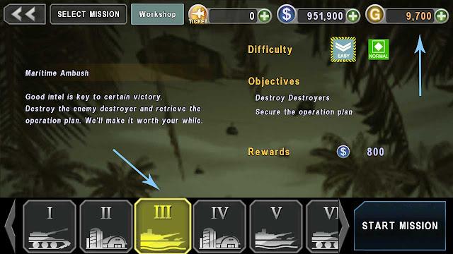 cheat gunship battle unlimited gold and money