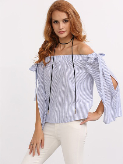 http://www.shein.com/Blue-Off-The-Shoulder-Bow-Split-Sleeve-Blouse-p-285181-cat-1733.html