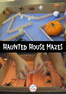 Mazes in STEM class! This set features a Haunted House theme for the month of October!