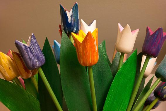 Tulipanes de madera. 5 regalos de San Valentin