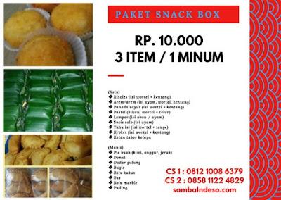 harga aneka snack Tangerang Kota