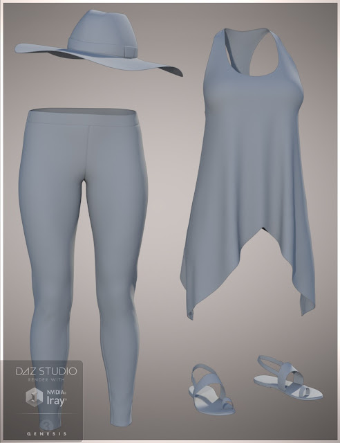 Fun Saturday Outfit for Genesis 3 Female