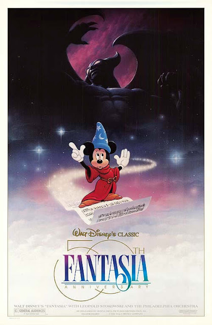 Disney's Fantasia.  This movie poster is for the 1990 re-release.