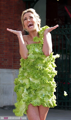 e846c8b031 Lady Gaga performs in India: putting on lettuce dress to promote  vegetarianism.