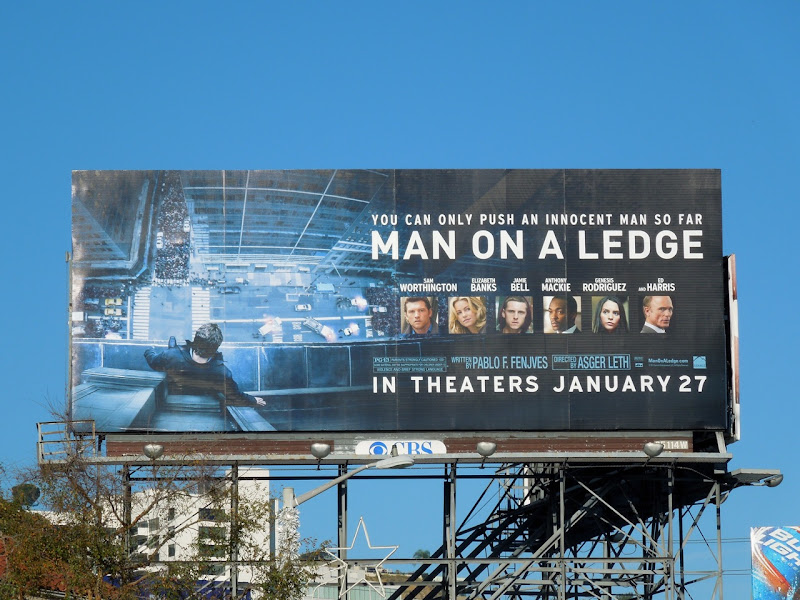 Man on a Ledge movie billboard