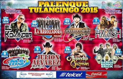 Cartelera de Conciertos en Palenque de Tulancingo 2015 precios reventa de boletos no agotados