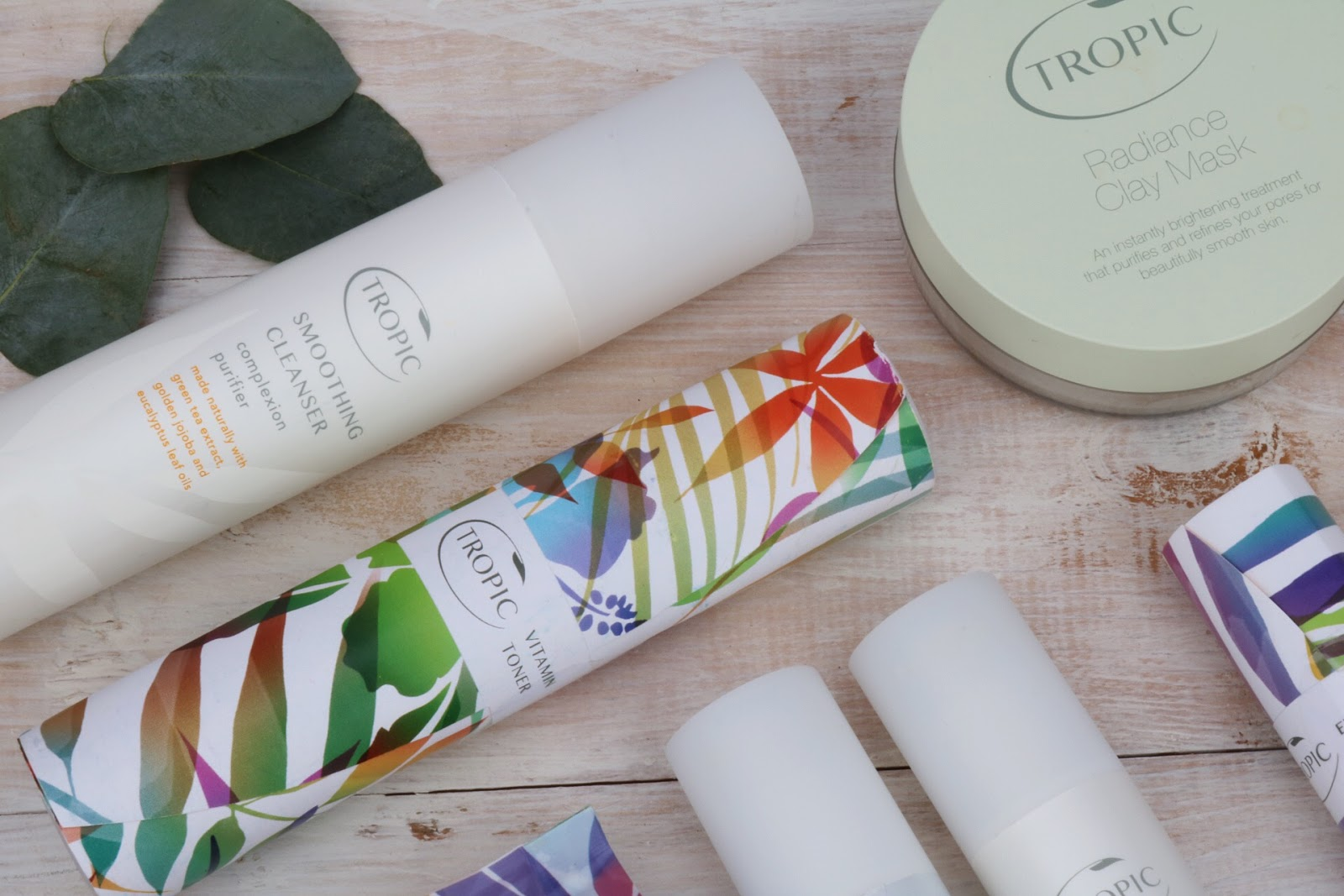 Tropic Products - Smoothing Cleanser, Vitamin Toner & Radiance Clay