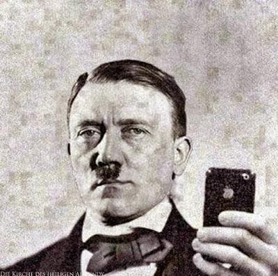 Adolf Hitler Foto mit Smartphone lustige Bilder