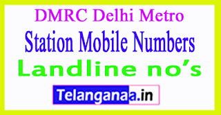 DMRC Delhi Metro Station Mobile Numbers Line 3