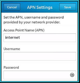 New TPG apn settings blackberry