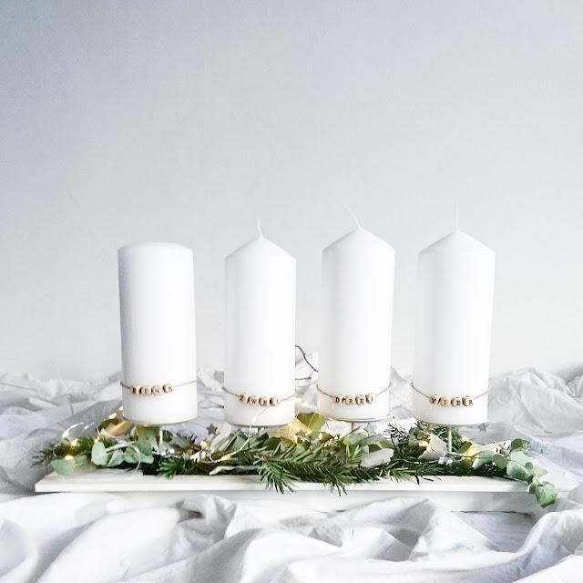 Adventskranz - whatalovelday - Nordicstyle - Nachhaltig - Eukalyptus - Lichterkette - Advent - Weihnachten - Familienblog