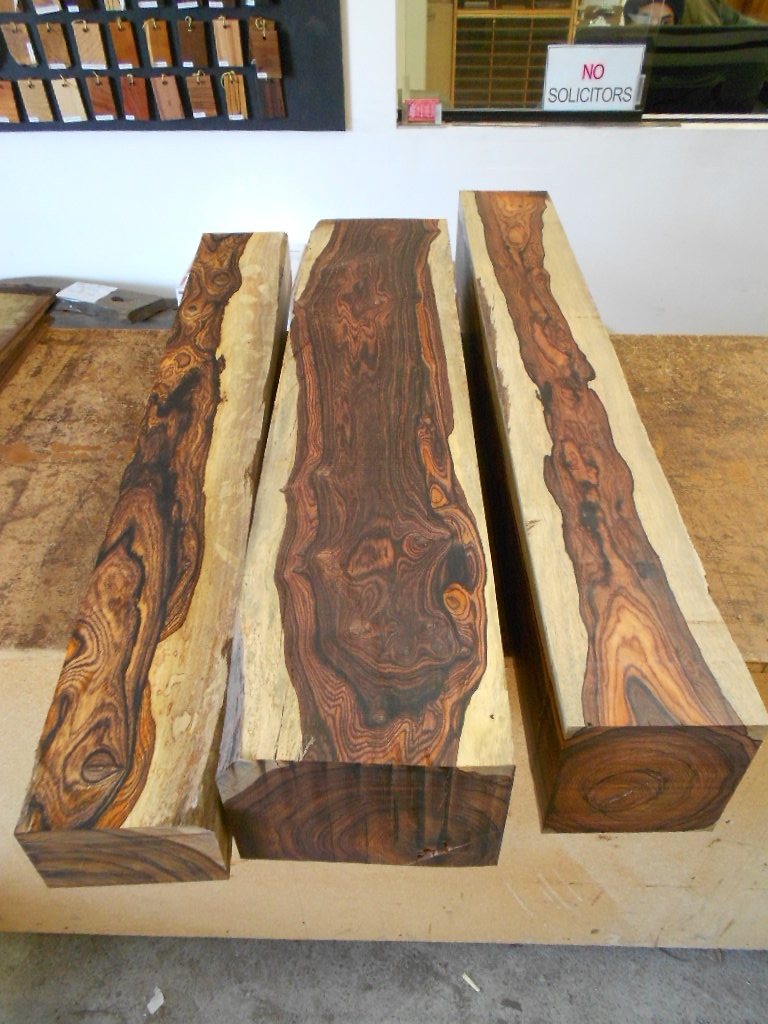 Tropical Exotic Hardwoods Highly Figured Cocobolo Logs