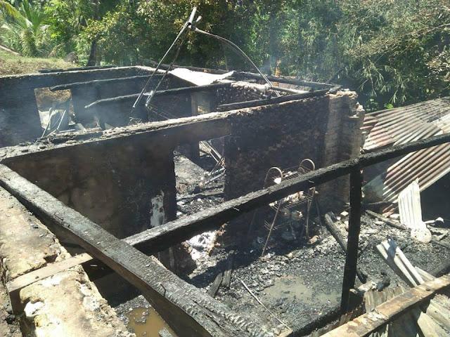 Kebakaran di Sikucur: Semua Isi dan Perabotan Rumah Ludes Dilalap Api