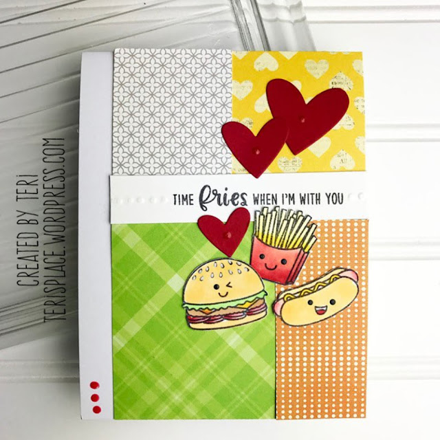 Sunny Studio Stamps: Fast Food Fun Customer Card by Teri Anderson