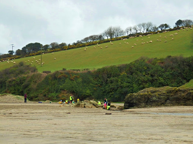 A sandy cove at Par Beach, Cornwall