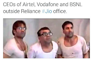 Hindi joke on Reliance Jio