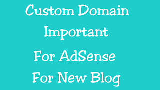Custom Domain Is Very important For AdSense