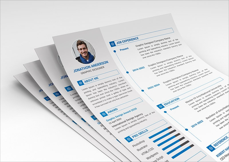 Template Resume CV 2018 - FREE Resume & Cover Letter Template in PSD Format