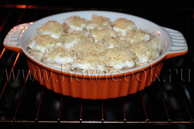 рецепт фаршированных шампиньонов с курицей с пошаговыми фото