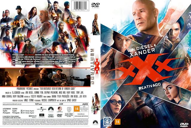Capa DVD xXx Reativado (Tripo X Reativado)