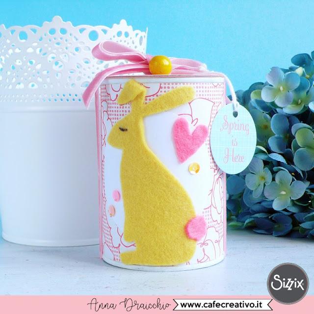Idea per riciclare un barattolo di latta per la primavera