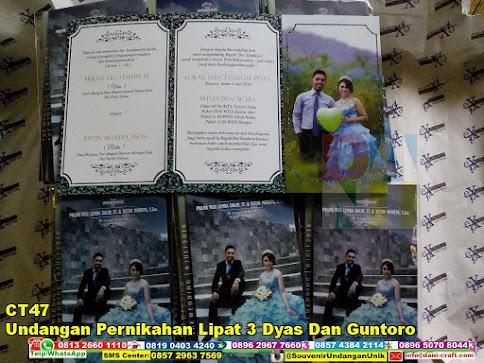 jual Undangan Pernikahan Lipat 3 Dyas Dan Guntoro