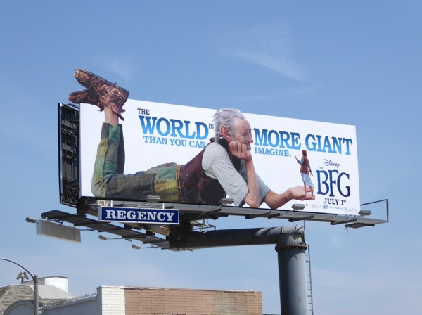 Disney The BFG film billboard