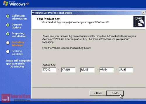 Cara Install Windows XP Lengkap Dengan Gambar - TutorialCaraKomputer.com
