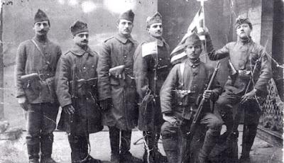 Έλληνες του Καυκάσου, εθελοντές στους Βαλκανικούς Πολέμους (αρχείο Συλλόγου Καυκασίων Καλαμαριάς «Ο Προμηθέας»)