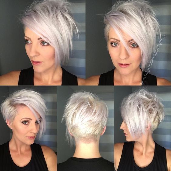 Short-Hairstyle-for-Women-with-Fine-Hair-half-bob-half-pixie-haircut