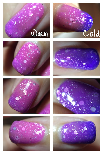 Purple tonic DIY hard nails