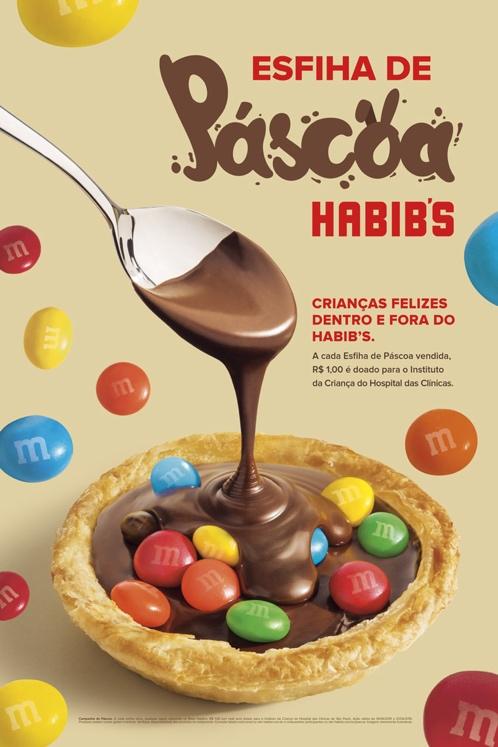 Páscoa Habib's vem recheada de muito chocolate e solidariedade para marcar calendário da rede