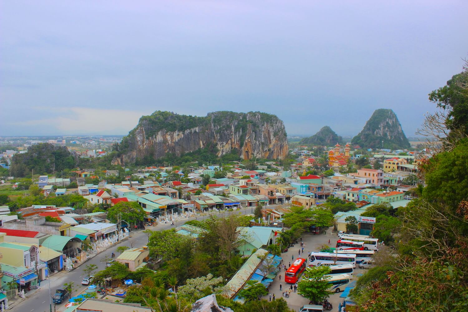marble mountains da nang view from water mountain