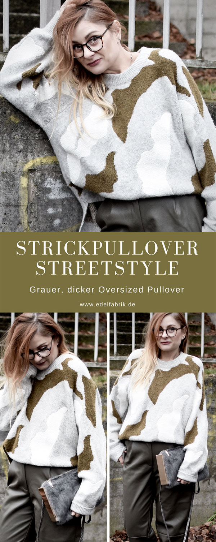 Streetstyle mit Oversized Strickpullover und Kunstlederhose
