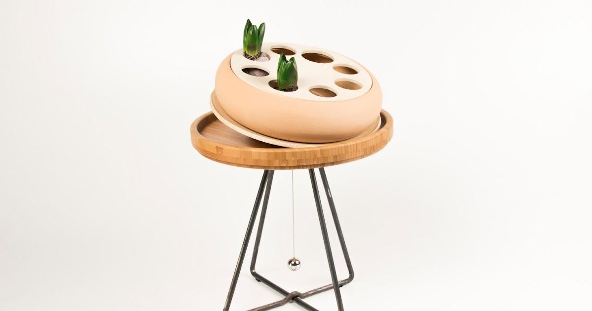 Calendula, un orto trottola idro-bioponico con motore a molla