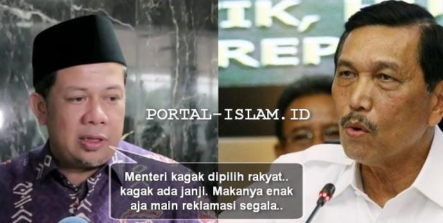 """Soal REKLAMASI, Ini Tamparan Keras Fahri Ingatkan Anak Buah Jokowi: """"Menteri kagak dipilih rakyat"""""""
