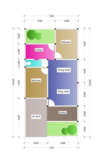 floor plan of beautiful house plan 19