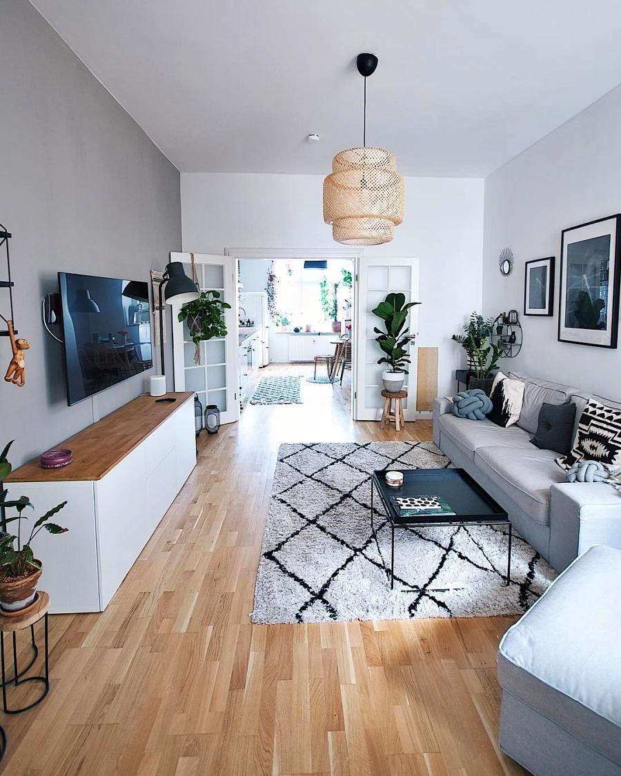 Szarości, prostota i odrobina skandynawii, wystrój wnętrz, wnętrza, urządzanie domu, dekoracje wnętrz, aranżacja wnętrz, inspiracje wnętrz,interior design , dom i wnętrze, aranżacja mieszkania, modne wnętrza, szare wnętrza, styl skandynawski, scandinavian style, urban jungle, salon,