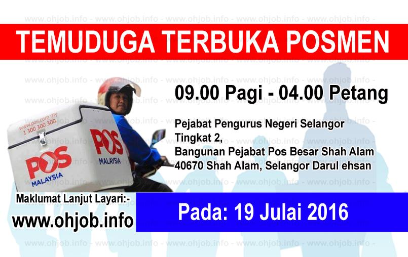 Jawatan Kerja Kosong Pos Malaysia Berhad logo www.ohjob.info julai 2016