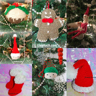 christmas crochet ornaments-christmas crochet patterns