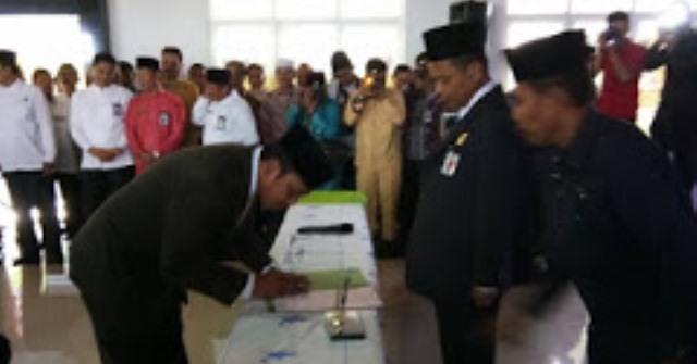 Kakanwil Kemenag Riau Lantik Kakan Kemenag Rohul Terpilih, Drs. H.Syahrudin M.Sy, Di Pekanbaru