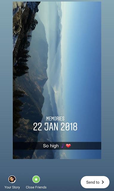 Reshare old Instagram story memories
