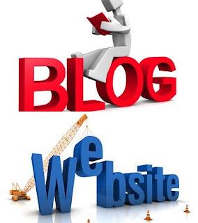 Perbedaan  websitesite dengan blog.