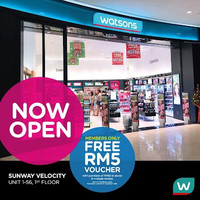 Watsons Store Members Free Voucher