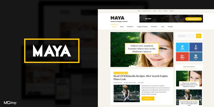 Maya Professional Blogging Blogger Template