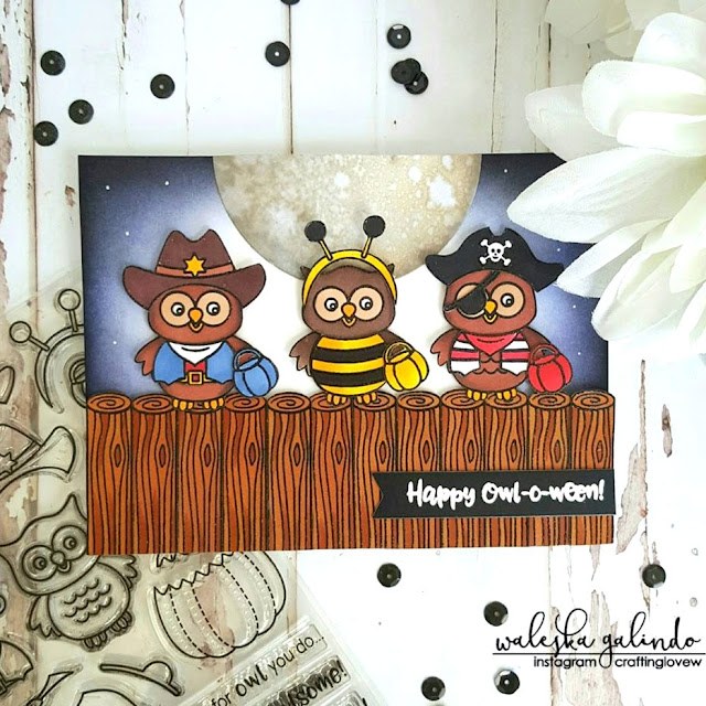 Sunny Studio Stamps: Halloween Card by Waleska Galindo (using Happy Owl-o-ween & Woodsy Creatures)