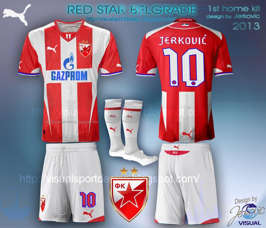 db48abd2e new red star belgrade puma football kit home jerković design