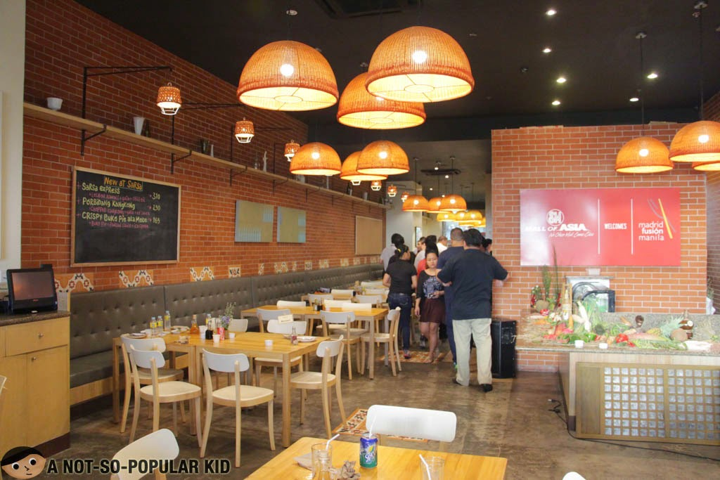 The interior of SARSA in Mall of Asia Complex